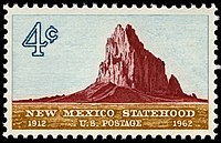 Stamped: Shiprock on a 1962 Postage Stamp