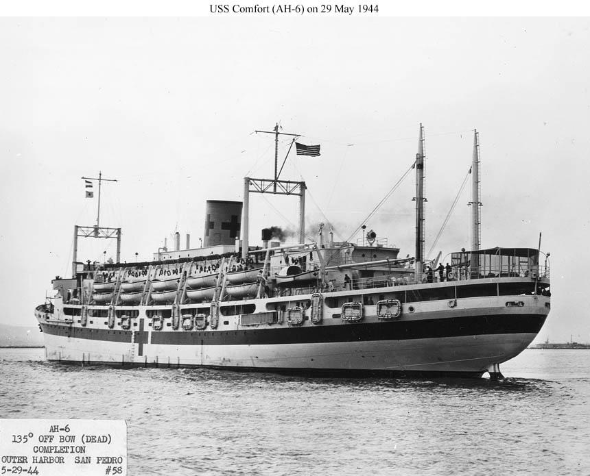 USS Comfort Hospital Ship
