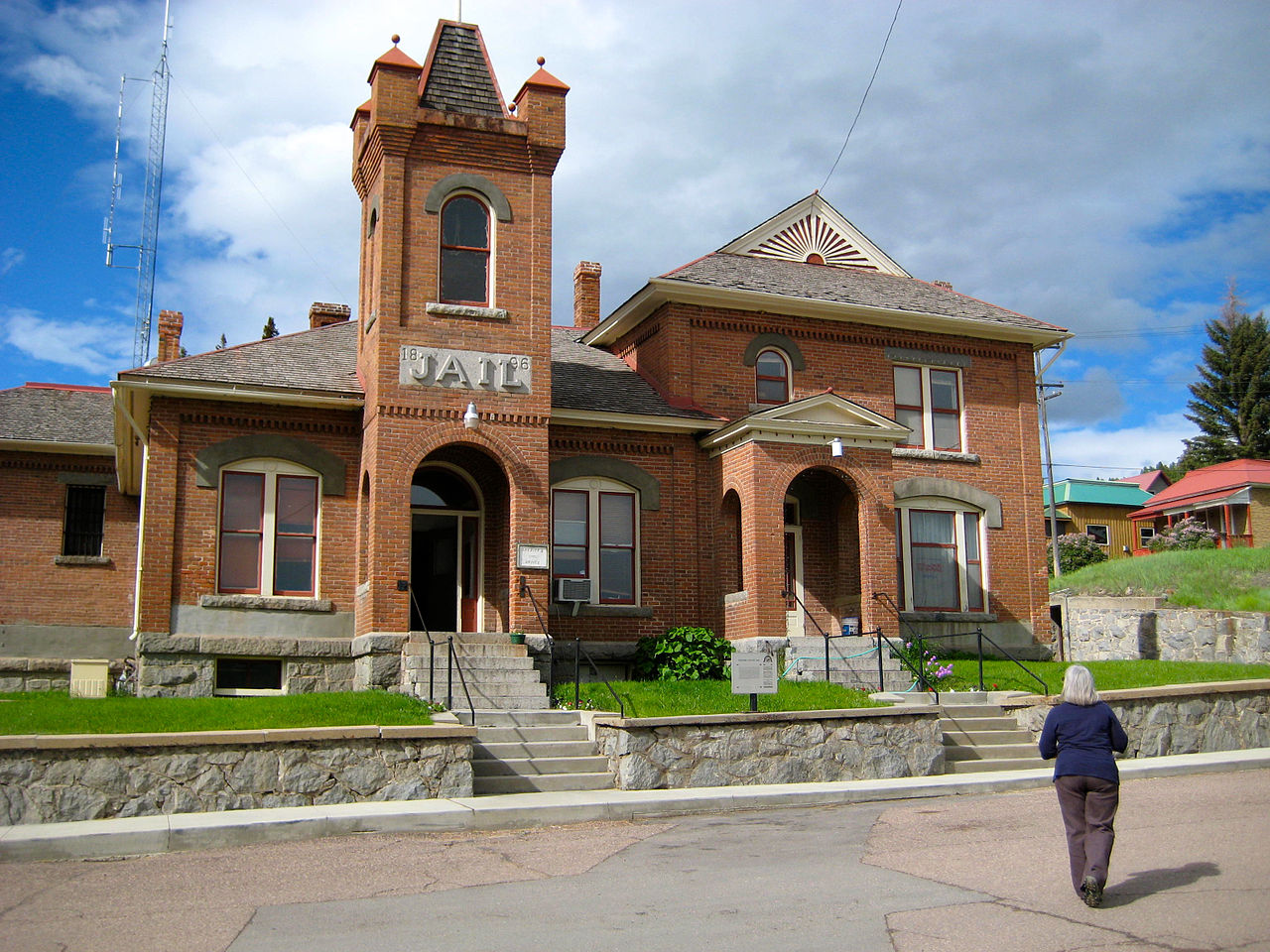 The historic Granite County Jail was built in 1896 and remains in use today.