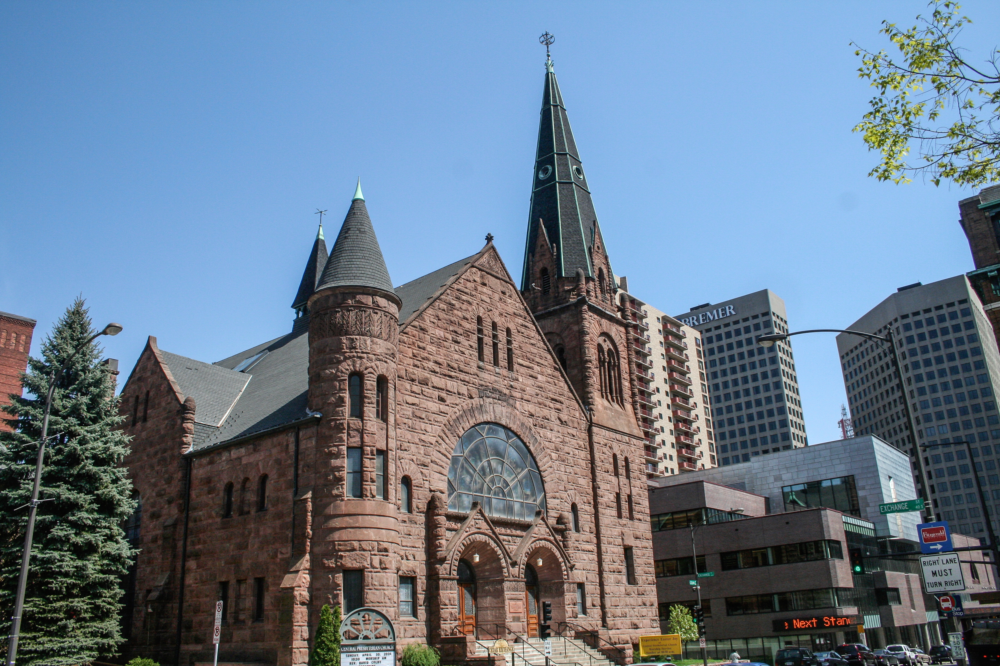Central Presbyterian Church was built in 1889 by Warren Hayes and added to the National Register of Historic Places in 1986.