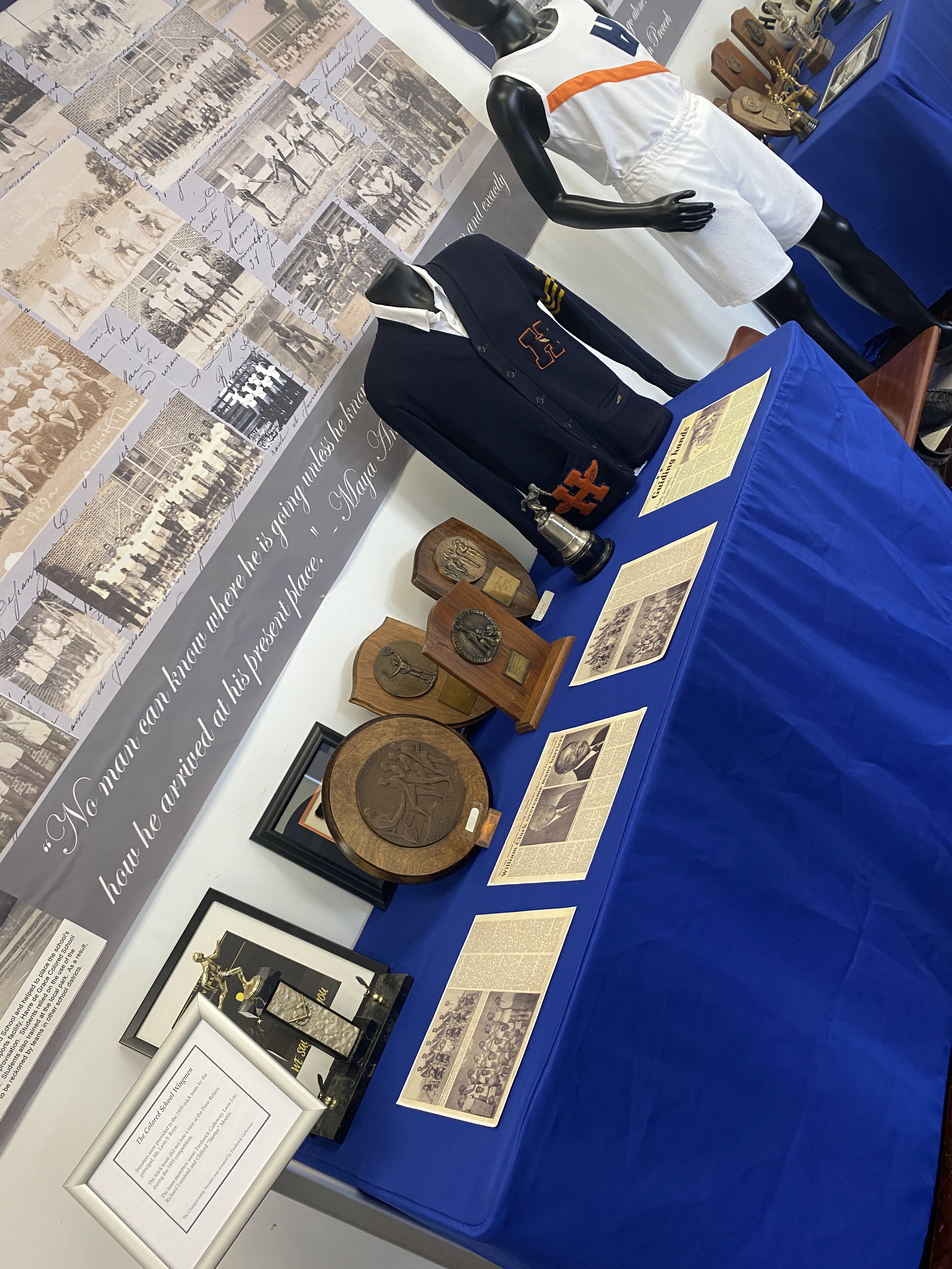 Numerous award won by the Havre de Grace Colored School athletic programs