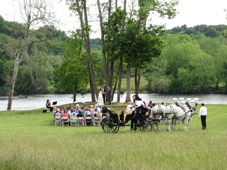 Wedding on front lawn