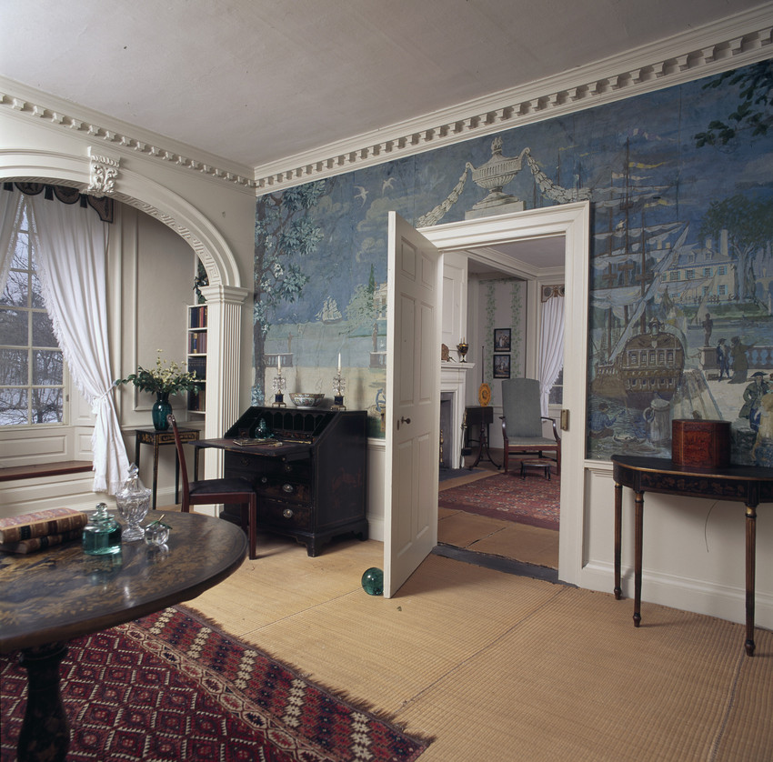 One of the murals within the house originally painted by George Parker Fernald.