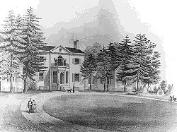 Sketch of the original home in 1850