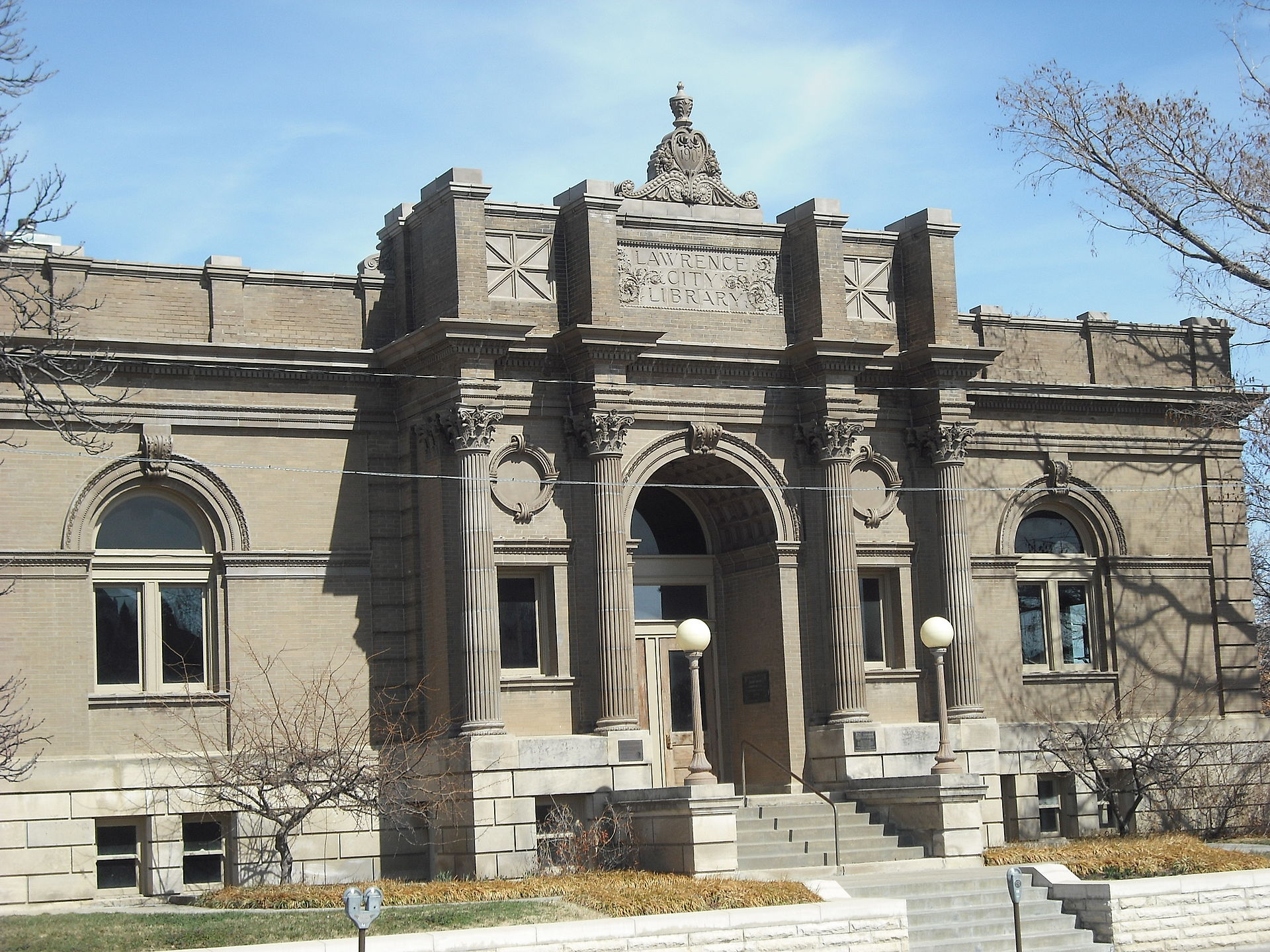 The Old Lawrence City Library was built in 1904 and operated as a library until 1972.