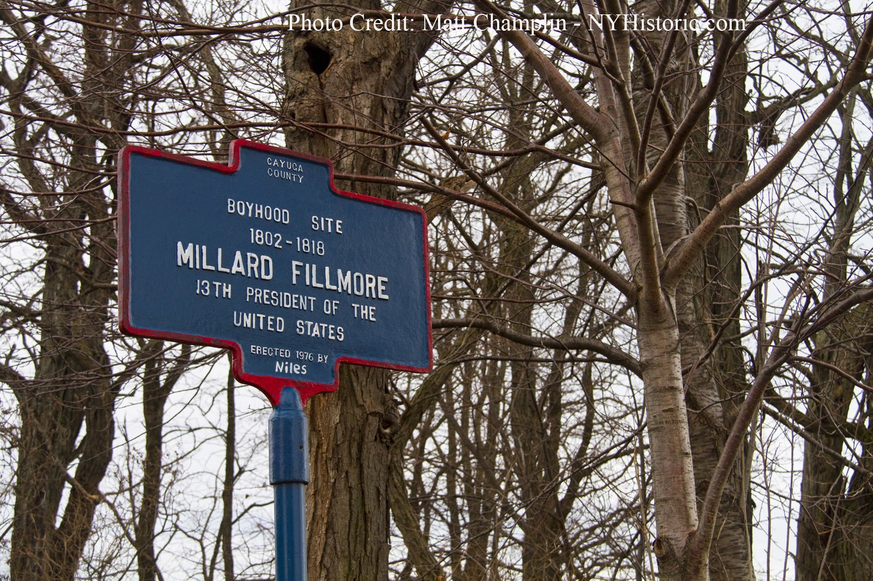 Fillmore Boyhood Home Site (Sign)