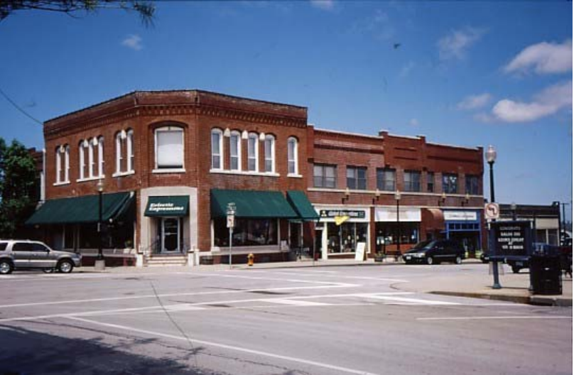 The former Community Savings and Loan Association building was built around 1887. Future President Harry S. Truman worked here in the mid-1920s.