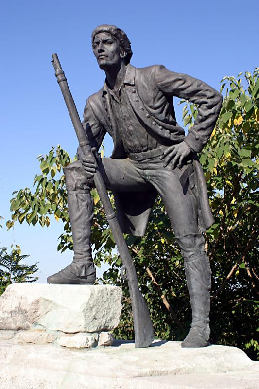 Statue honoring Timothy Demonbreun (image from WPLN News)
