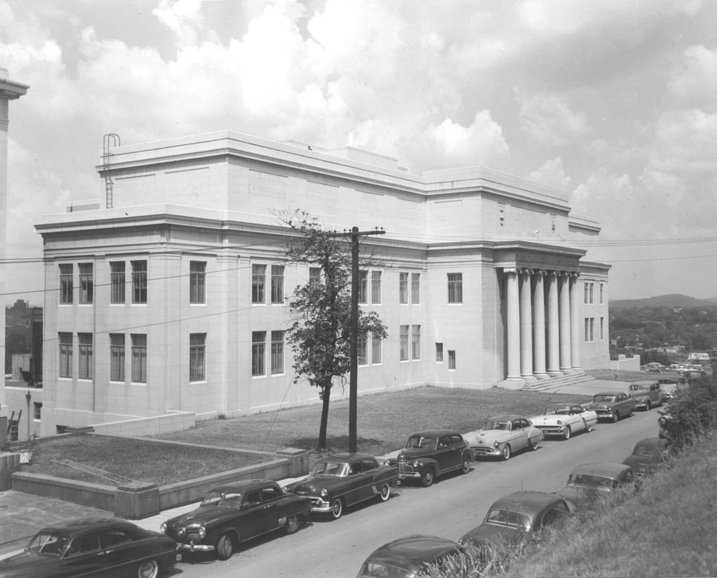 Tennessee State Library and Archives in the mid-1950s (image from Nashville Public Radio)