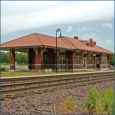 Picture of the Truman Station, also known as the Missouri Pacific Railroad Station in Independence.