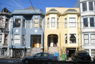 The cream-colored house is the former residence of Charles Manson