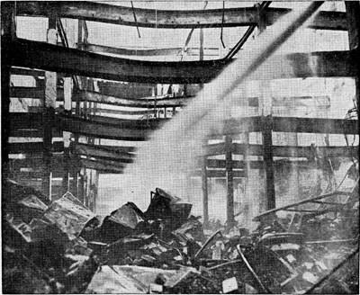 The theater after the fire, October 1951