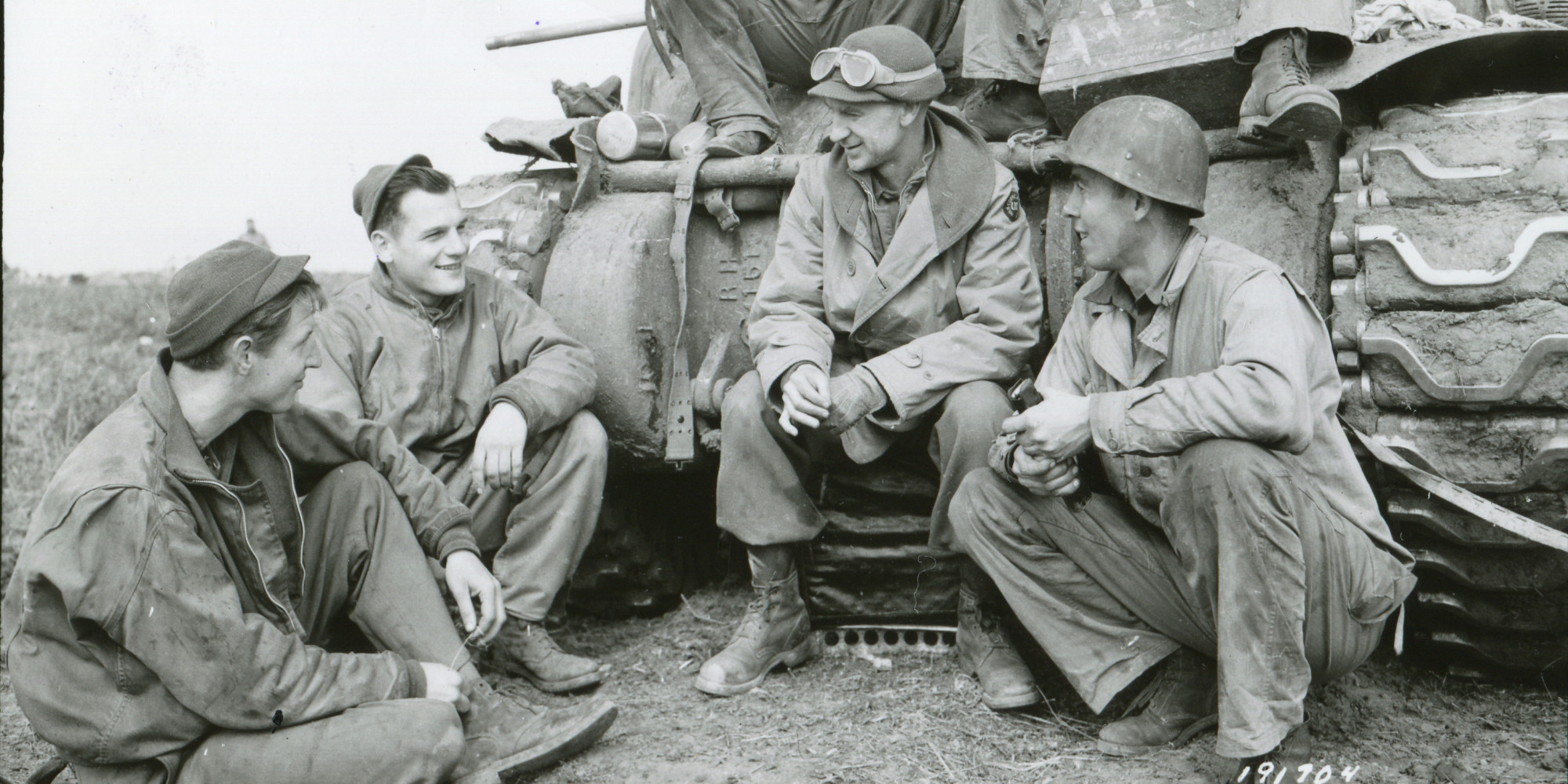 Pyle and his WWII Crew
