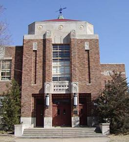 Sumner School - west entrance (today)