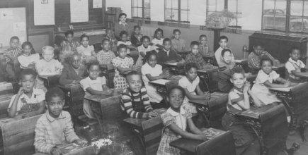 The segregated Monroe School, where Linda Brown went to school