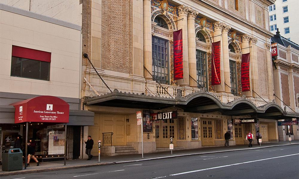The exterior of the American Conservatory Theater