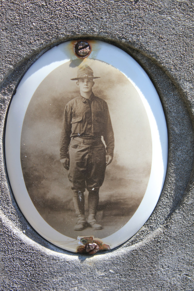 John W. Foster - Picture on headstone