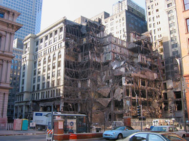 Despite strong efforts to save it, the Century Building was controversially demolished in October 2004. Image obtained from the Landmarks Association of St. Louis.