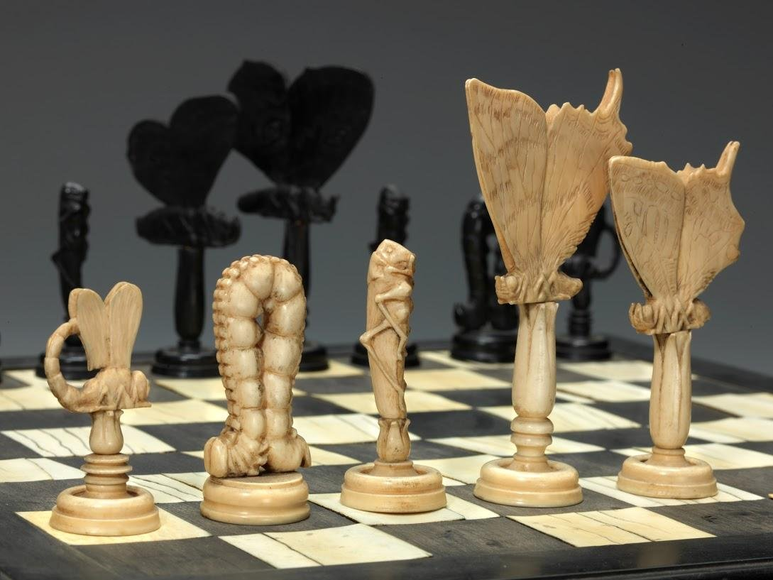 """Insect"" chess board at the WCHOF"