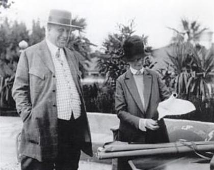 Julia Morgan with William Randolph Hearst