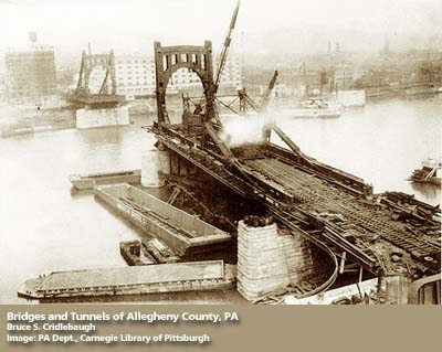 The then, 7th Street Bridge, being constructed in 1925.