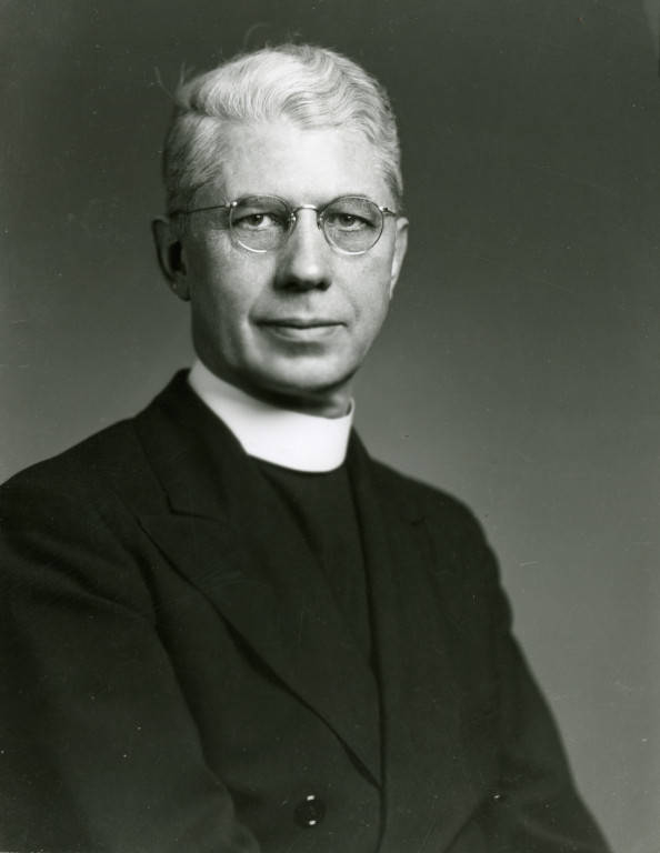 """Marquette University President (1944-1948) The Very Reverend Peter A. Brooks, S.J. (""""Department of Special Collections and University Archives, Marquette University Libraries, MUA_ITS_00379)"""