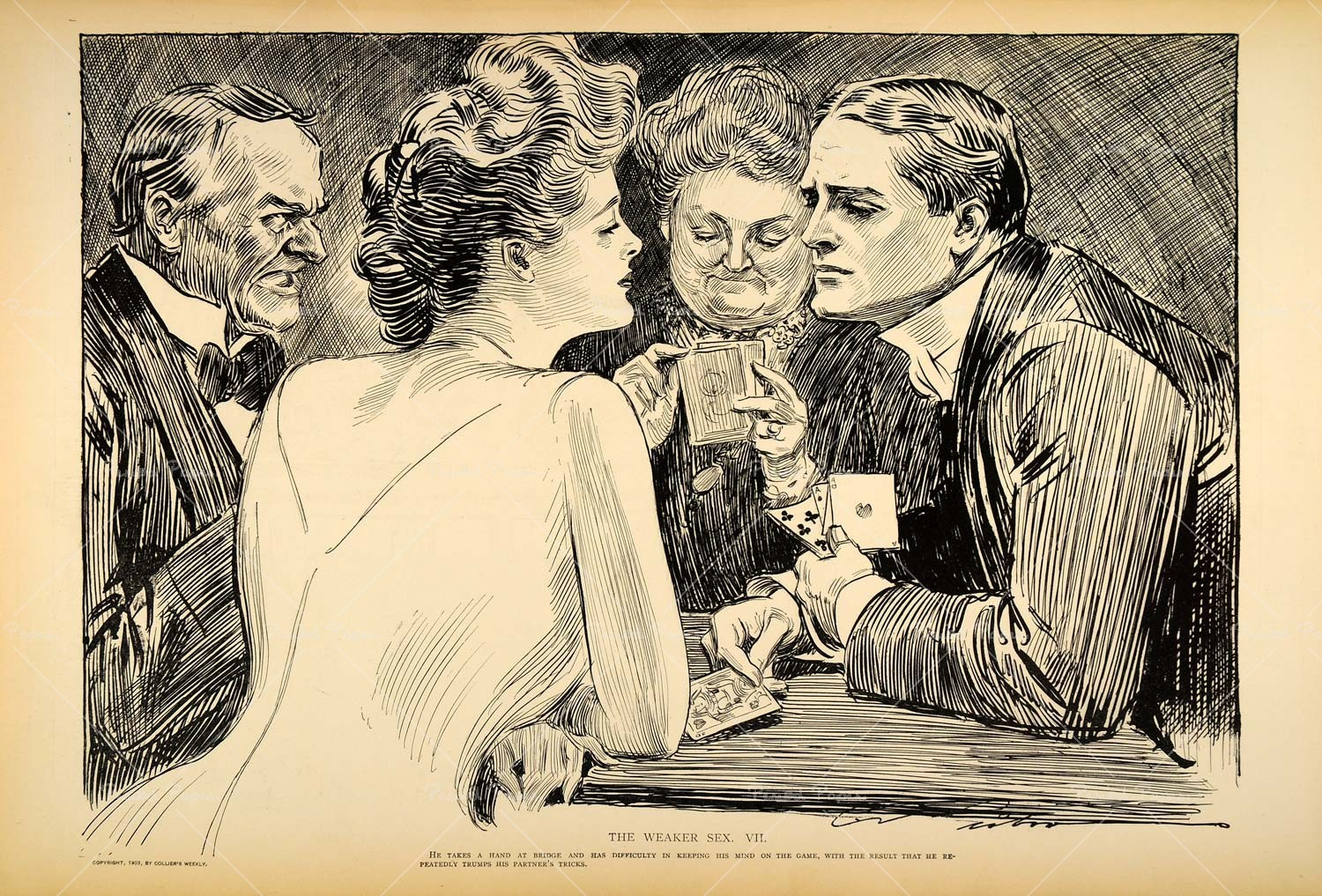 "Charles Dana Gibson depicted the ""Gibson Girl"" as an equal to men in ways that were new for the era."