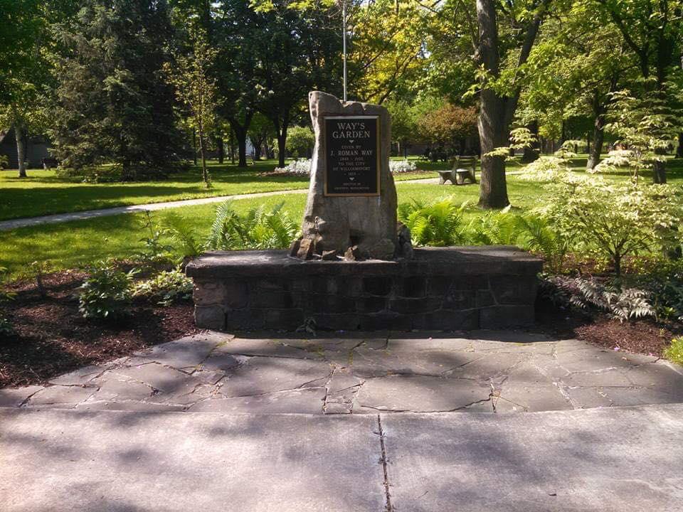 Way's Garden commemorative plaque
