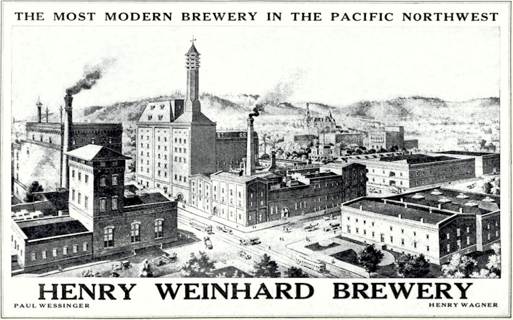 A historic image of the brewery from the website Brewerygems