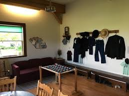 A guided tour includes many exhibits to familiarize visitors with Anabaptist ways of living