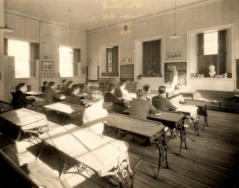 Pearson Hall interior, 1933. Photograph by George H. Davis