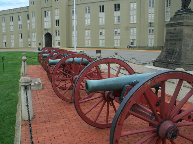 "The two original cannons were light weight brass ""cadet"" cannons"
