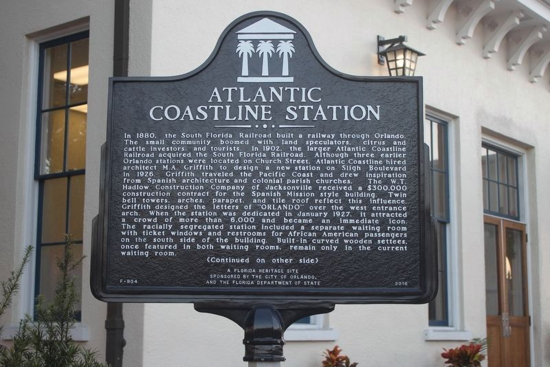 A historic marker was added to the station in 2016. Image obtained from The Historical Marker Database.