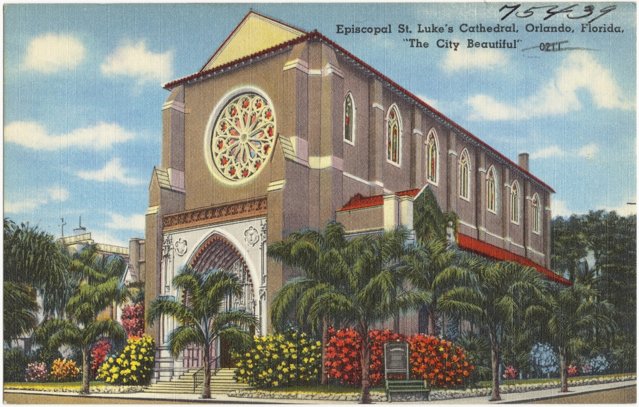 This postcard depicts the partially-completed church in the 1930s or 1940s. Image obtained from digitalcommonwealth.org.