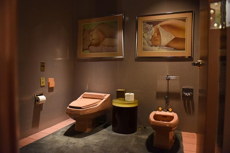 Bathroom in living quarters