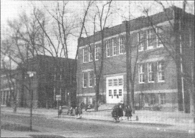 The 1899 school building, circa 1950s