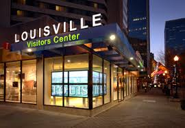 The modern view of the Louisville Visitors Center