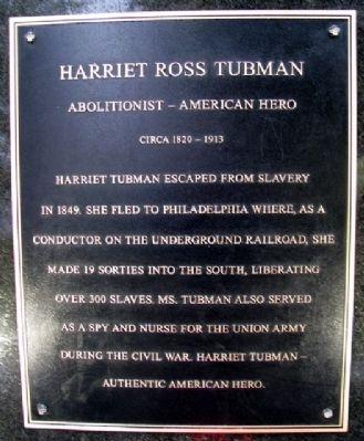 Harriet Tubman's Historical Marker