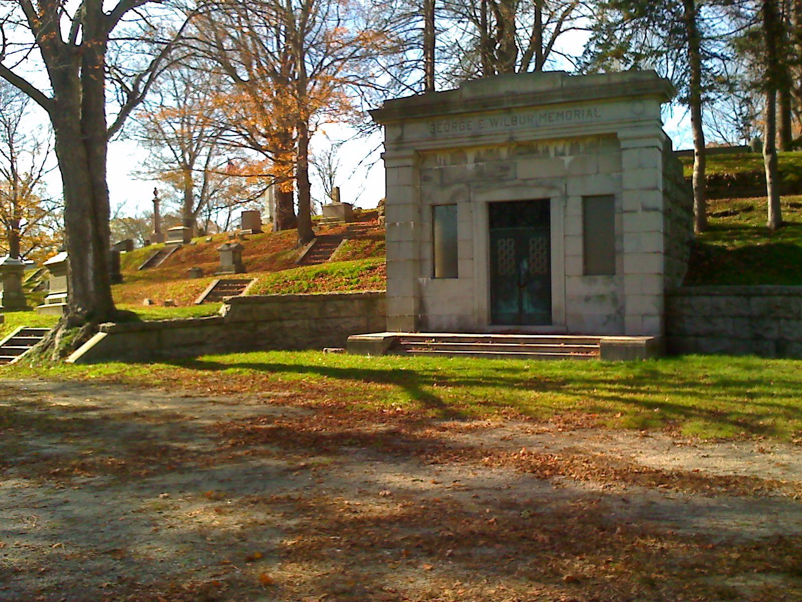 George E. Wilbur Memorial at the Mount Pleasant Cemetery (Courtesy of the Taunton Daily Gazette)