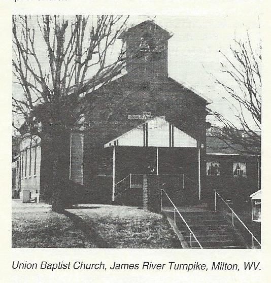 Union Baptist Church- Milton, WV (before remodling)