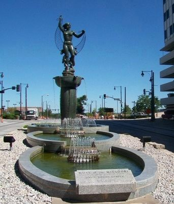 The Muse of the Missouri was dedicated in 1962. Image obtained from the Historical Marker Database.