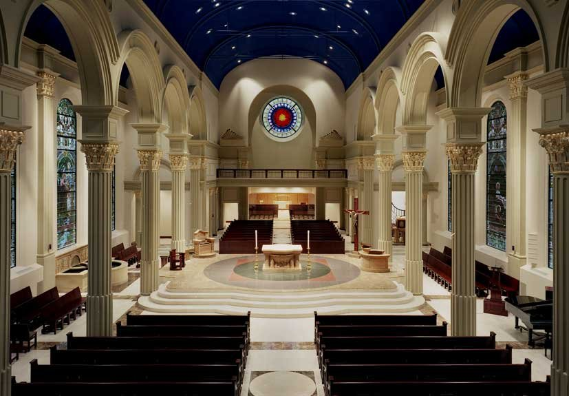 Interior of the cathedral today. Image obtained from the Cathedral of the Immaculate Conception.
