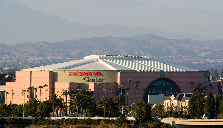 Honda Center logo from afar