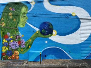 Blue, Plant, Paint, Art paint