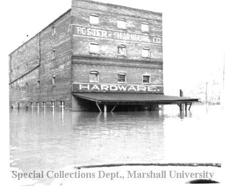 Foster & Thornburg Hardware during the Flood of 1937