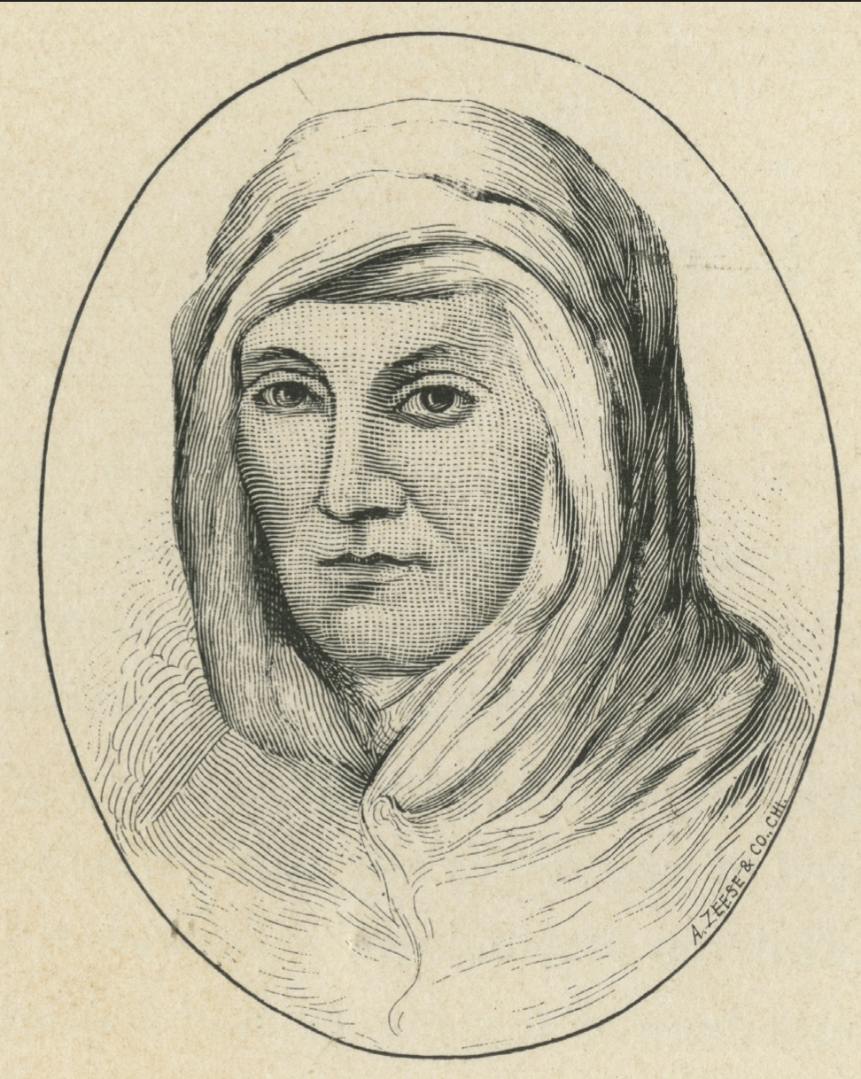 Engraving of Elizabeth Russell, courtesy of the Library of Virginia.