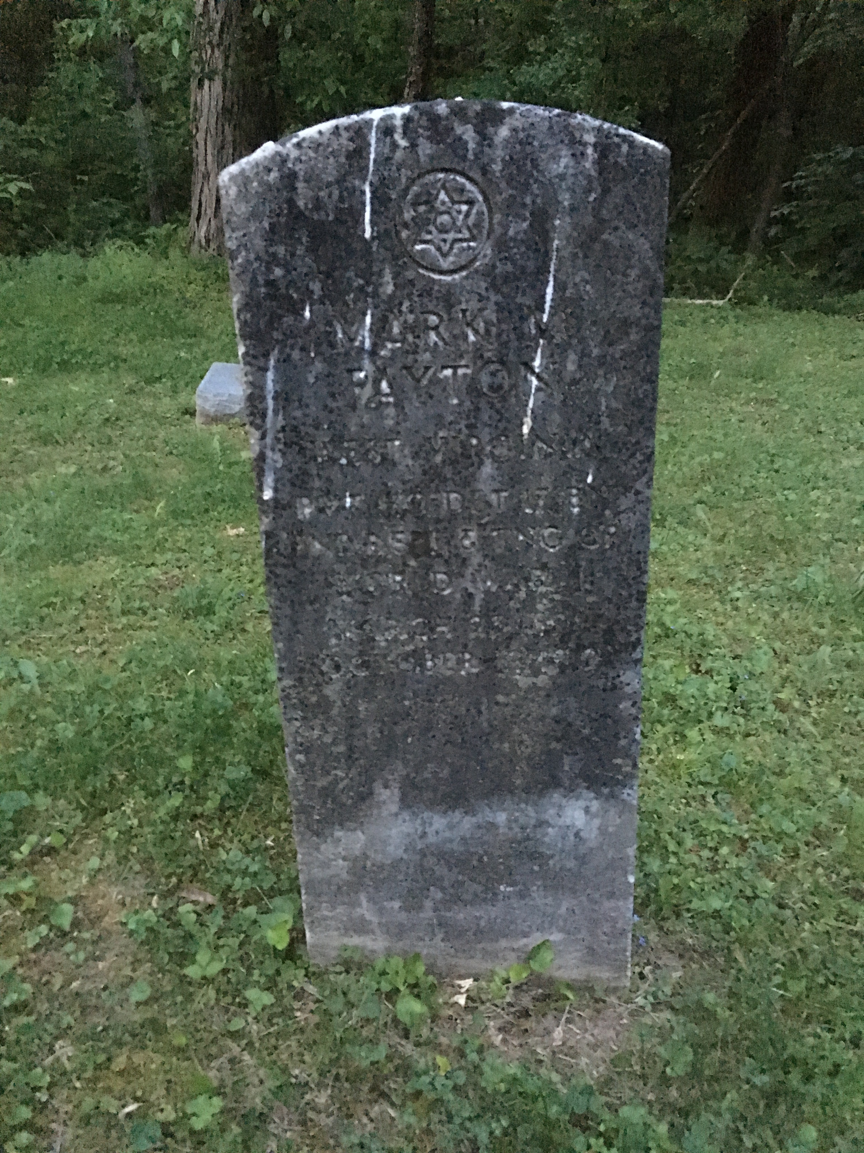 Headstone at Mud River Baptist Church Cemetery