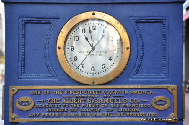 The clock's original inscription.