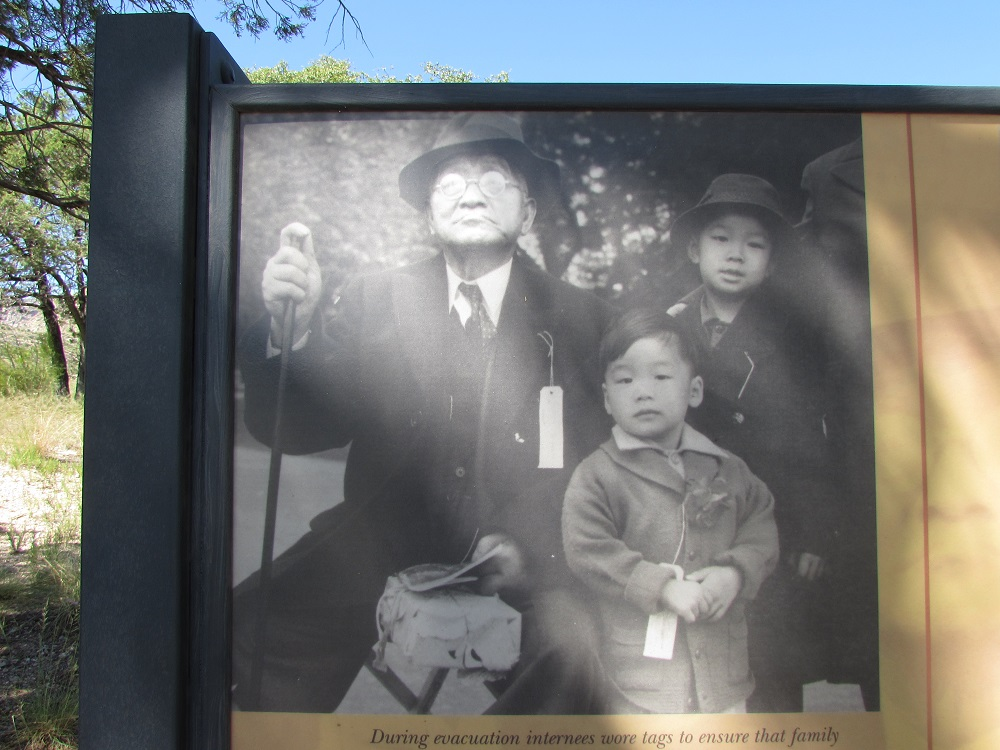 Gordon Hirabayashi's family. Gordon, the child, would later defy exclusion orders and select service.