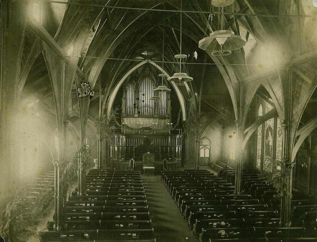 An old interior shot of the Church.